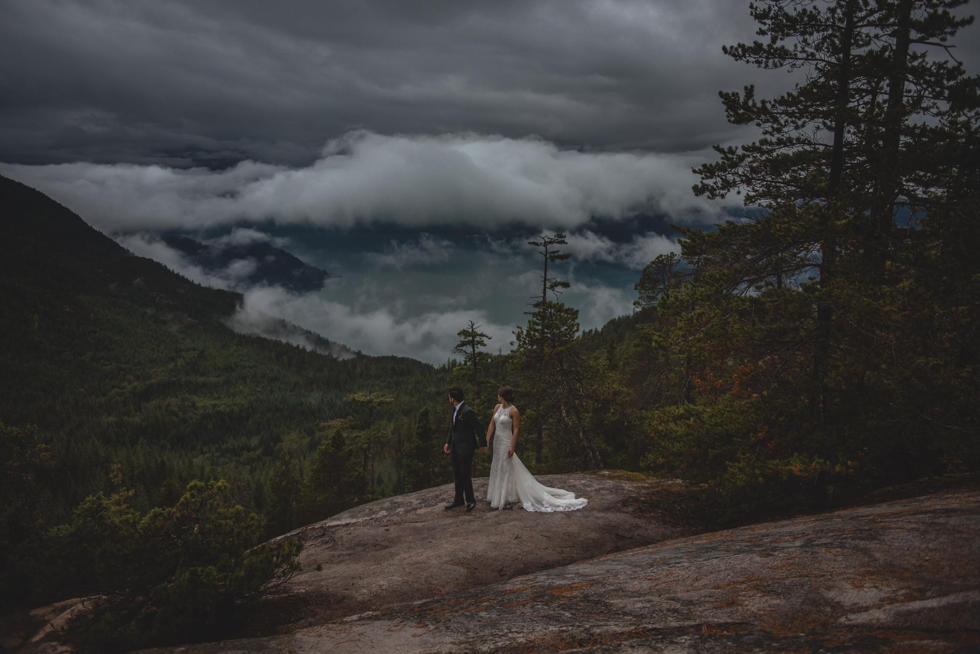 sea to sky gondola wedding bride and groom