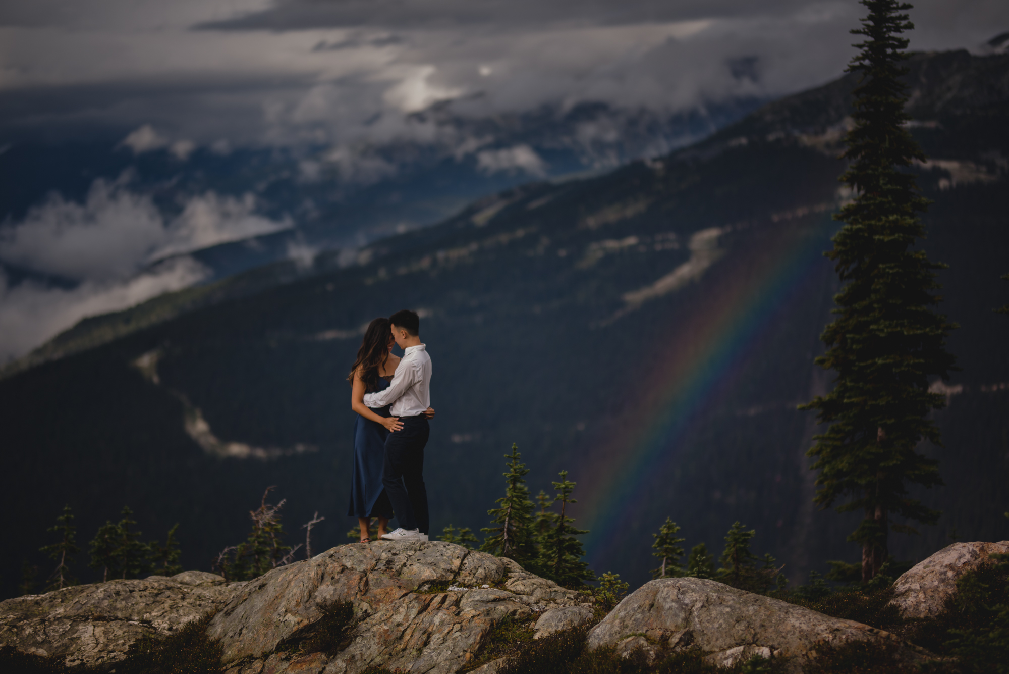 whistler blackcomb engagement photography rrainbow