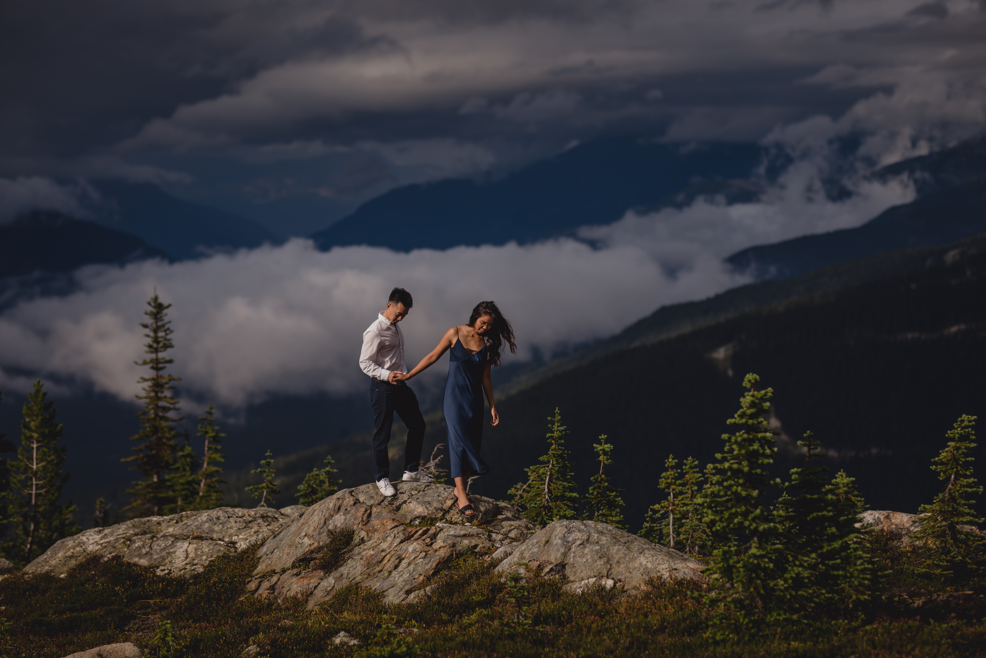 whistler blackcomb engagement photography roundhouse