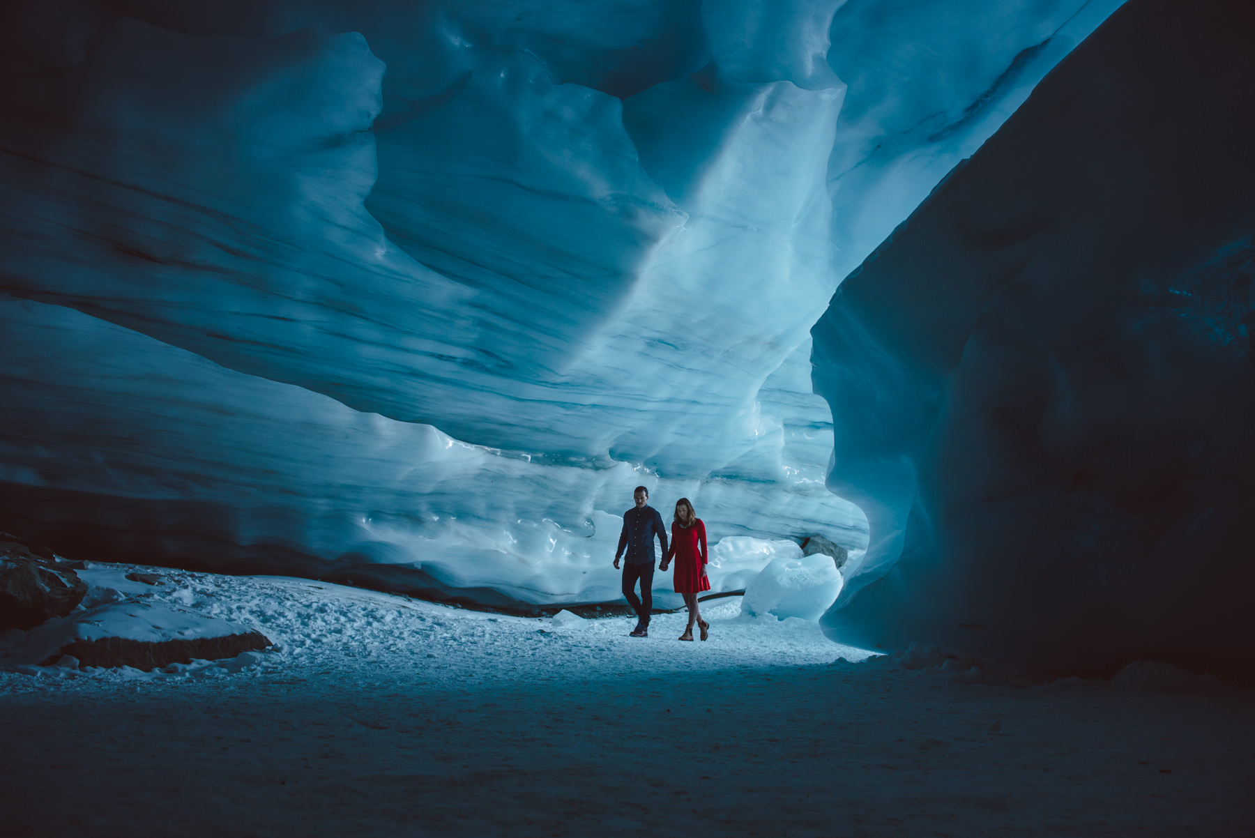 Ice-cave-engagement